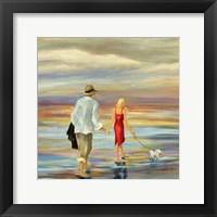 Framed Walking Down the Shore