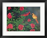 Framed Flowers and Candy Cardinals
