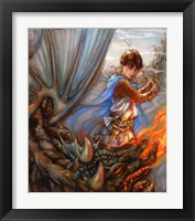 Framed Dragon Fighter