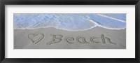 Framed Love Beach