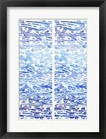 2-Up Winter River Rocks I Framed Print