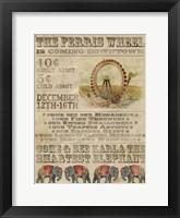 Framed Vintage Circus IV