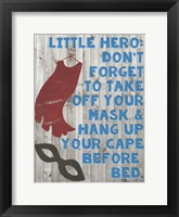 Little Hero III Framed Print