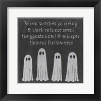 Framed Spooky Chalkboard II