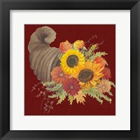 Framed Autumn Floral III