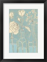 Framed Apothecary Flowers I