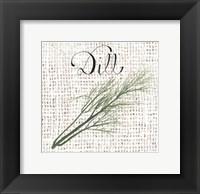 Burlap Herbs III Framed Print