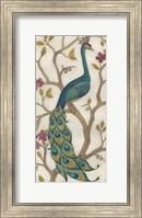 Framed Peacock Fresco I