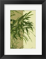 Framed Painted Contrast Leaves I