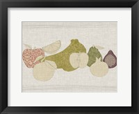 Contour Fruits & Veggies I Framed Print