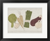 Contour Fruits & Veggies II Framed Print