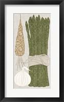 Contour Fruits & Veggies V Framed Print