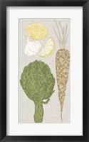 Framed Contour Fruits & Veggies VI
