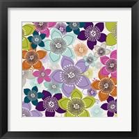 Framed Boho Floral I