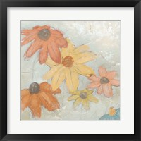 Framed Floral Fresco II