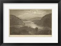 Framed Harper's Ferry by Moonlight