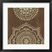 Framed Weathered Mandala I