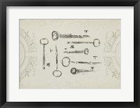 Keepsake Keys I Framed Print