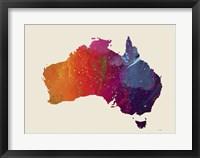 Framed Australia Map 1