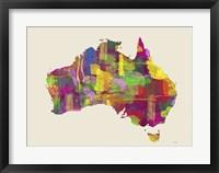 Australia Map 2 Framed Print