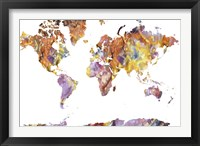 Framed World Map Rock 1