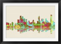 Brisbane Qld Skyline 2 Framed Print