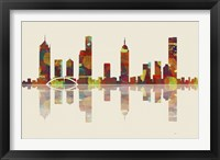 Melbourne Vic Skyline 2 Framed Print