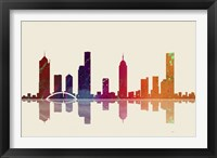 Melbourne Vic Skyline 3 Framed Print