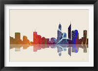 Perth WA Skyline 3 Framed Print
