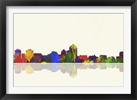 Albuquerque New Mexico Skyline 1 Framed Print
