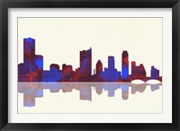 Framed Austin Texas Skyline 1
