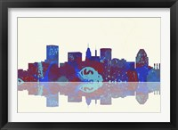 Framed Baltimore Maryland Skyline 1