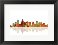 Framed Charlotte NC Skyline 1