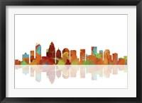 Charlotte NC Skyline 1 Framed Print