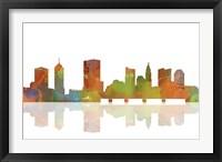 Framed Columbus Ohio Skyline 1