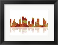 Framed Houston Texas Skyline 1