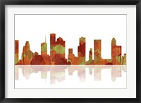 Framed Houston Texas Skyline 1