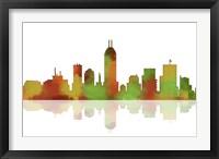 Framed Indianapolis Indiana Skyline 1