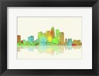 Framed Los Angeles California Skyline 1