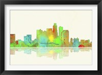 Framed Los Angeles California Skyline 1
