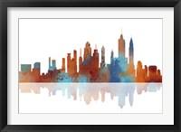 New York New York Skyline 2 Framed Print