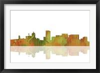 Framed Portland Oregan Skyline 1