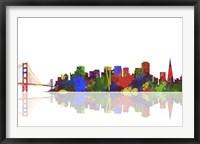 Framed San Francisco California Skyline 1