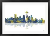 Framed Seattle Washington Skyline 1