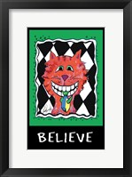 Framed Believe Cat