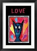Framed Love Cat