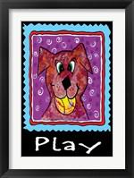 Framed Play Dog