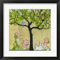 Framed Bunny Tree