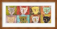 Framed 8 Cats