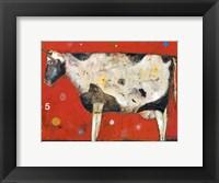 Framed Red 5